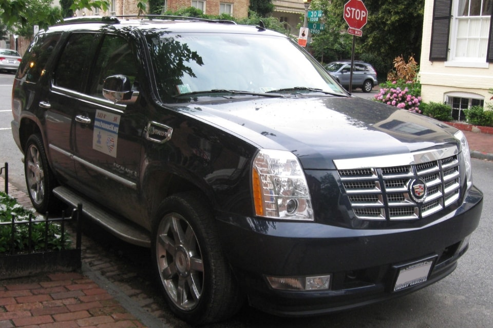 2009 Cadillac Escalade Hybrid parked on the street