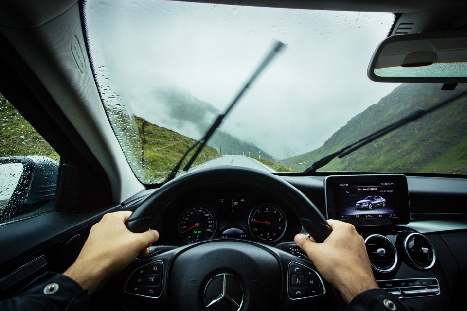 driving a mercedez