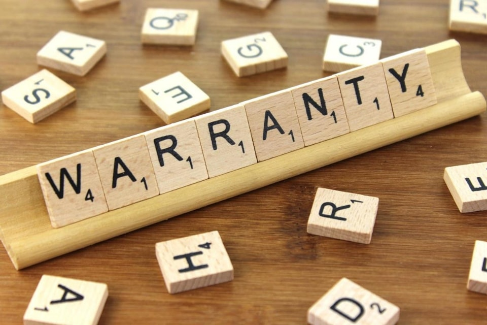 puzzle showing warranty word